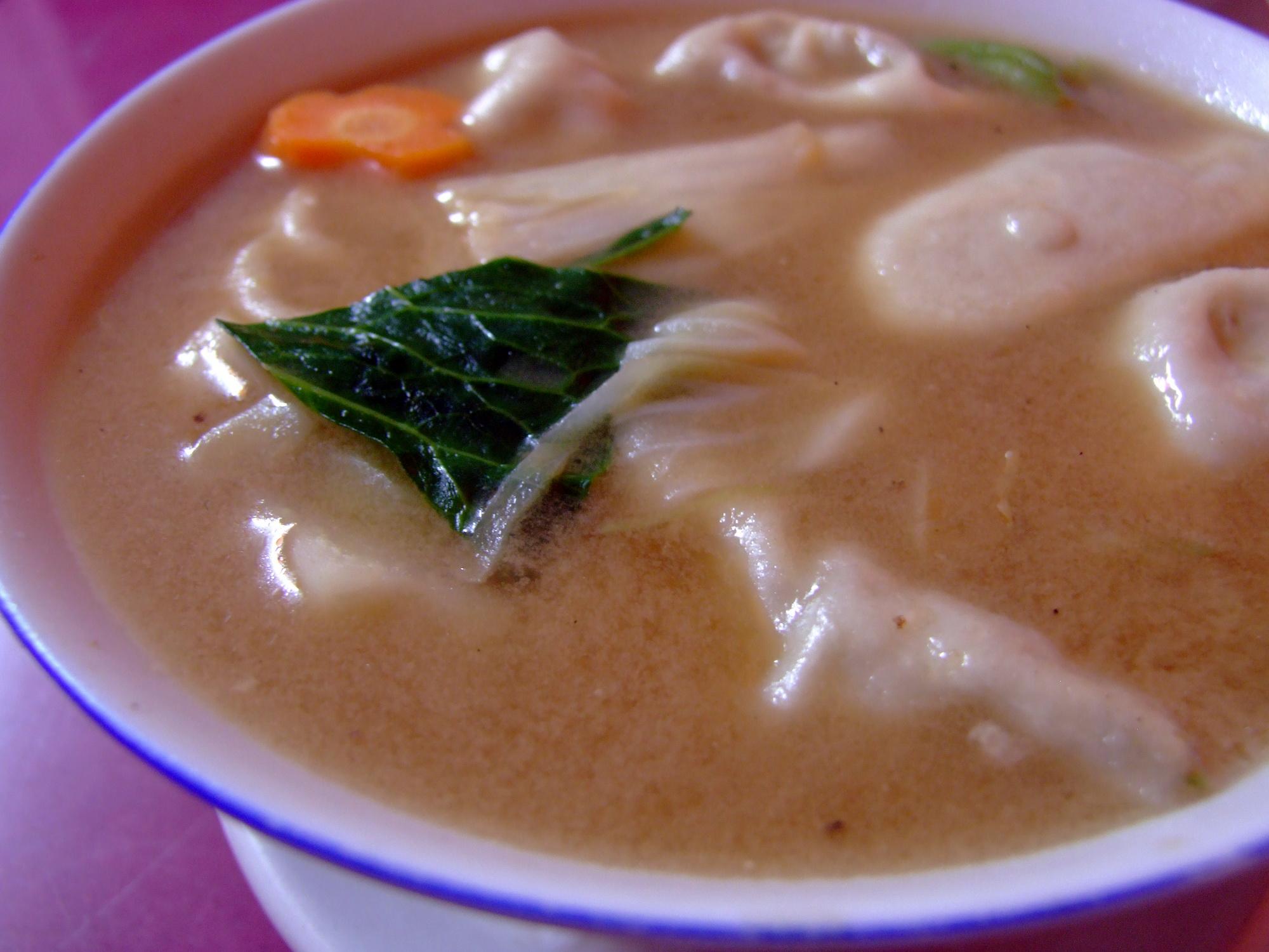 Momo soup in Nepal