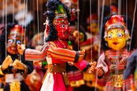Papier mache souvenir dolls from Nepal