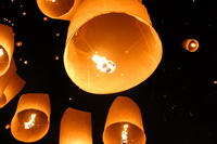 Yee Peng Paper Lanterns heading into the sky