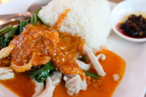 Pork in peanut sauce in Thailand