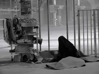 Woman Alone in the Mosque - Iran