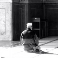 Man Praying in Lahore, Pakistan