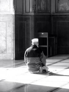 Man Praying in Lahore, Pakistan