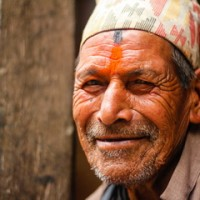 Smiling man from Bhaktapur