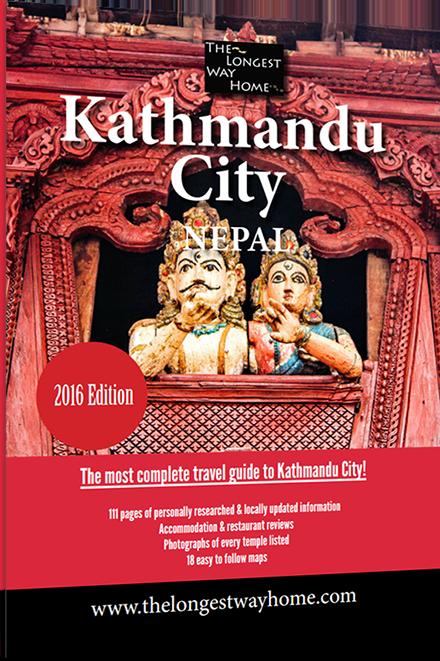 Kathmandu city guidebook cover 2016