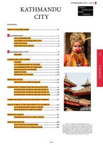 Kathmandu city table of contents 2016