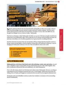 Kathmandu city guide page sample