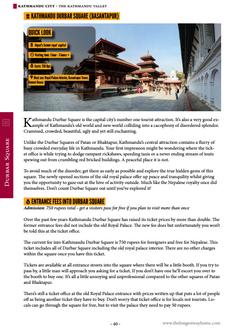 Guidebook featuring Kathmandu Durbar Square