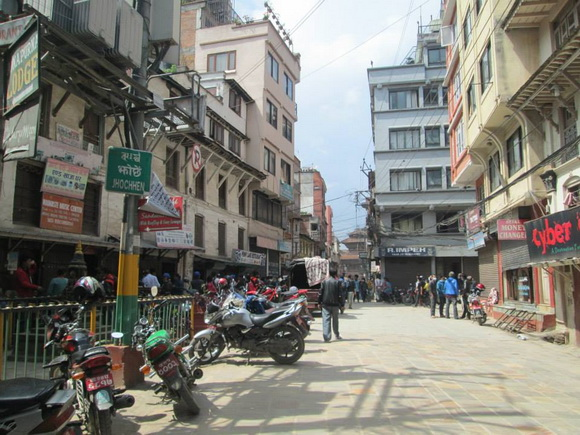 Kathmandu Durbar Square from Freak Street
