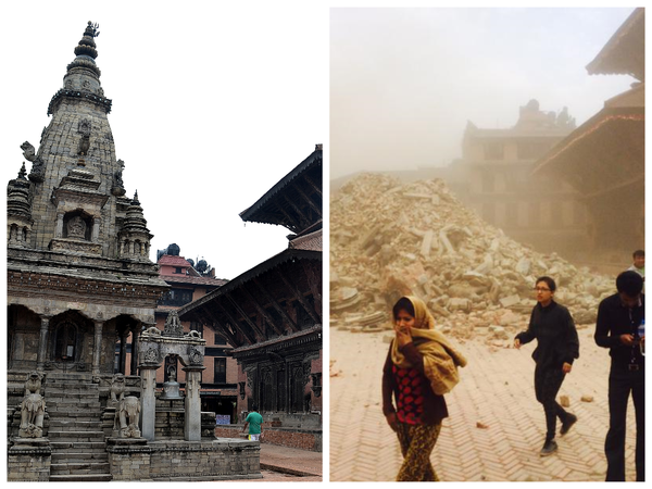 Vatsala temple in Bhaktapur after the earthquake