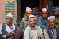 Bhaktapur men smiling