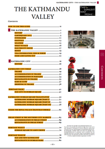Kathmandu Valley Table of Contents 1