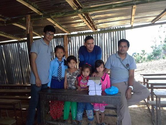 Volunteers helping in Nepal