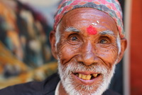 Nepalese man with a tika
