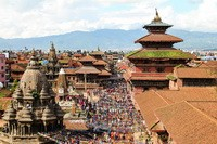 Patan's new cityscape in Nepal