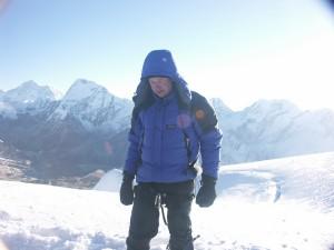 Mark on the summit of Mera