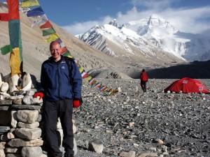 Mark at Everest Base Camp
