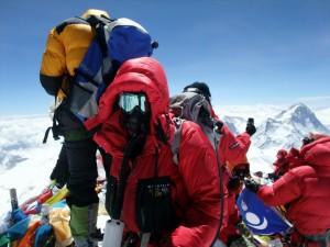 Mark Horrell on Everest Summit