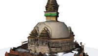 Kathesimbhu stupa in 3d resize resize