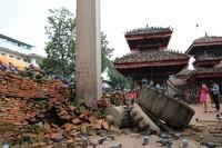 King Mall Column ruins Kathmandu Durbar Square