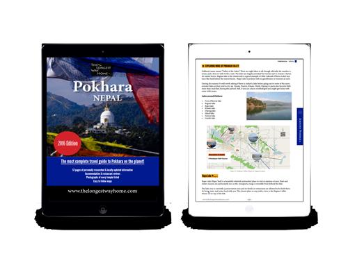 Pokhara guidebook on ipad