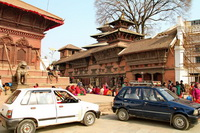 Cars in Kathmandu Durbar Square
