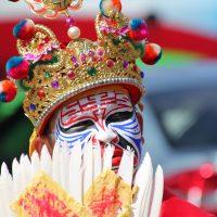Masked man during the Nine Emperor Gods Festival Malaysia