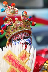 Masked man during the Nine Emperor Gods Festival Malaysia