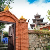 Bhagwati temple and gate Dhulikhel, Nepal