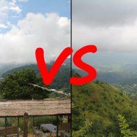Nagarkot vs Dhulikhel, Nepal