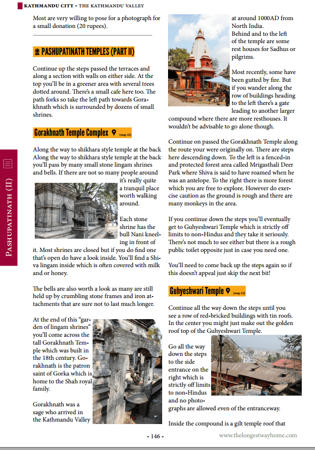 Nepal guidebook sample page