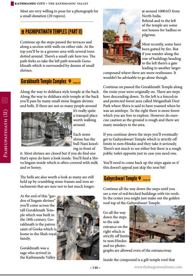 Nepal guidebook sample page
