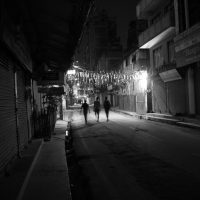 Walking home in Thamel at night, Kathmandu
