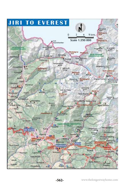 Jiri to Everest Map
