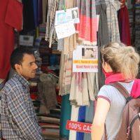 Pashmina seller in Kathmandu