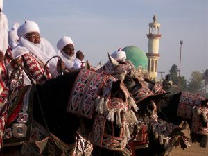 Horsemen at the Kano Durba in Nigeria