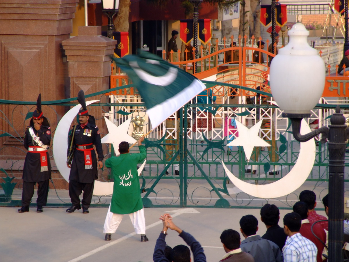 Wagah Border changing of the guard