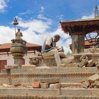 Stonemason in Bhaktapur Nepal