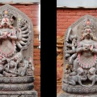 Ugrachandi and Bhairab Statues in Basantapur Chowk