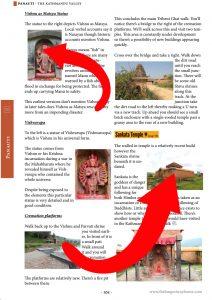 Page from Kathmandu Valley Heritage Walks book showing Panauti