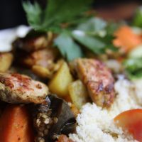 Chicken tagine with eggplant
