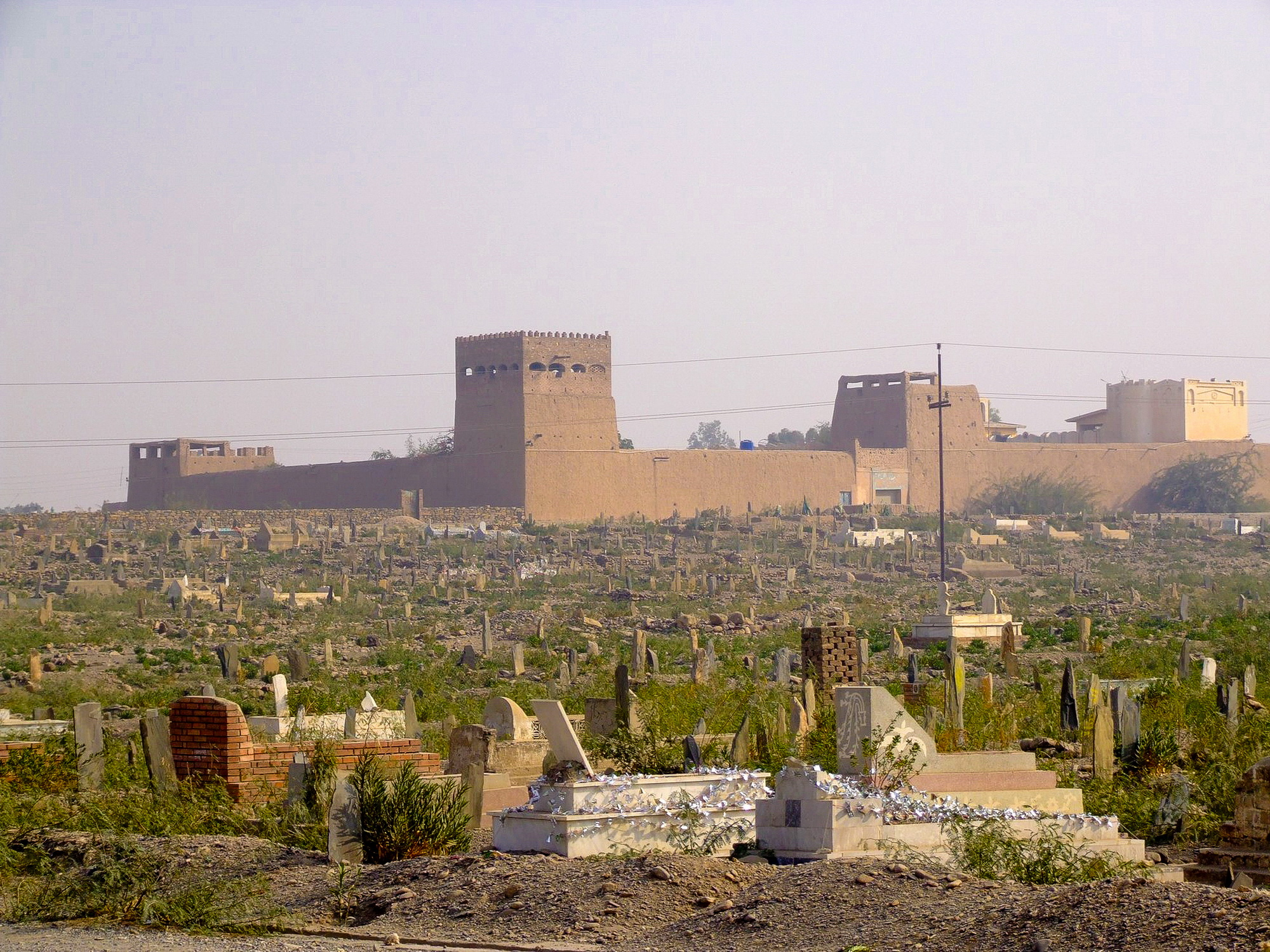 Warlords house and graveyard in the Khyber Pass, Pakistan
