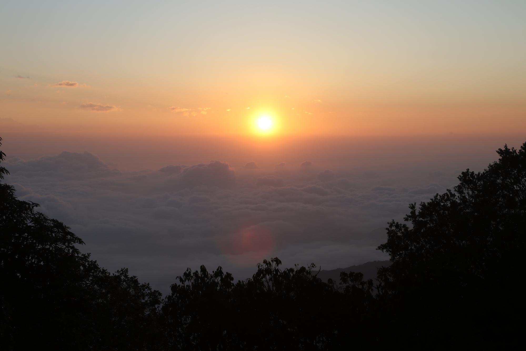 Sunrise on Panchase Peak