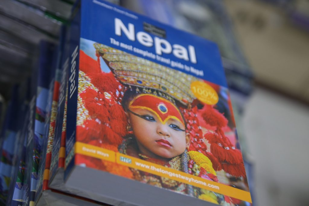 Best print guidebook to Nepal in a book shop