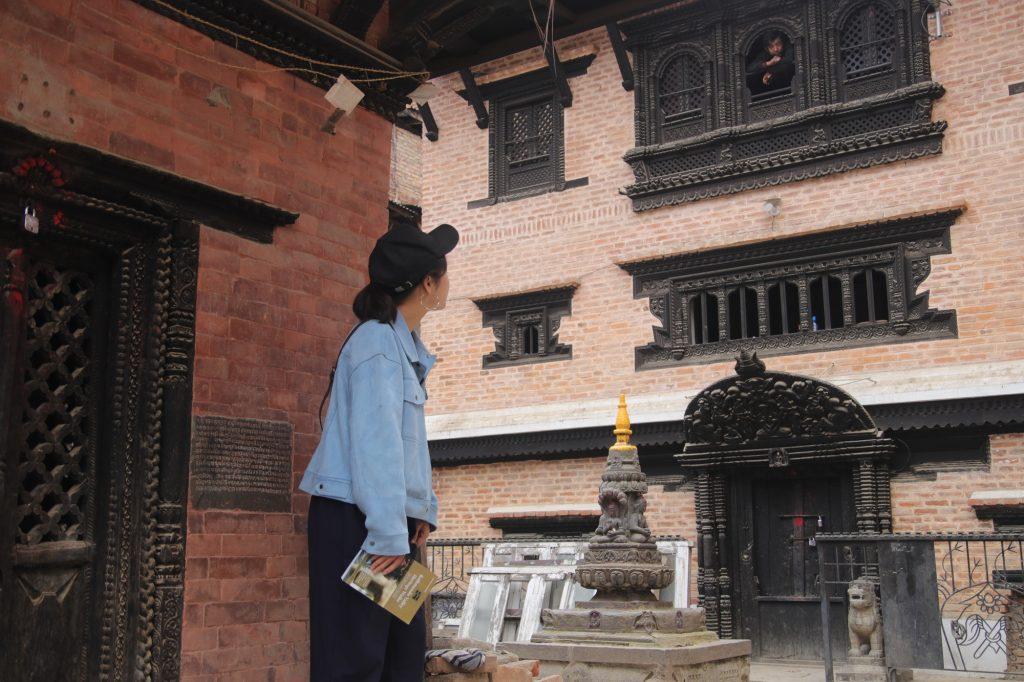Kathmandu Heritage Walks book in a hidden courtyard