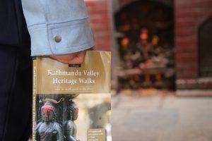 Kathmandu Valley Heritage Walks book and statue