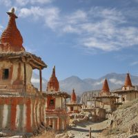 Chortens at Tange Village Upper Mustang