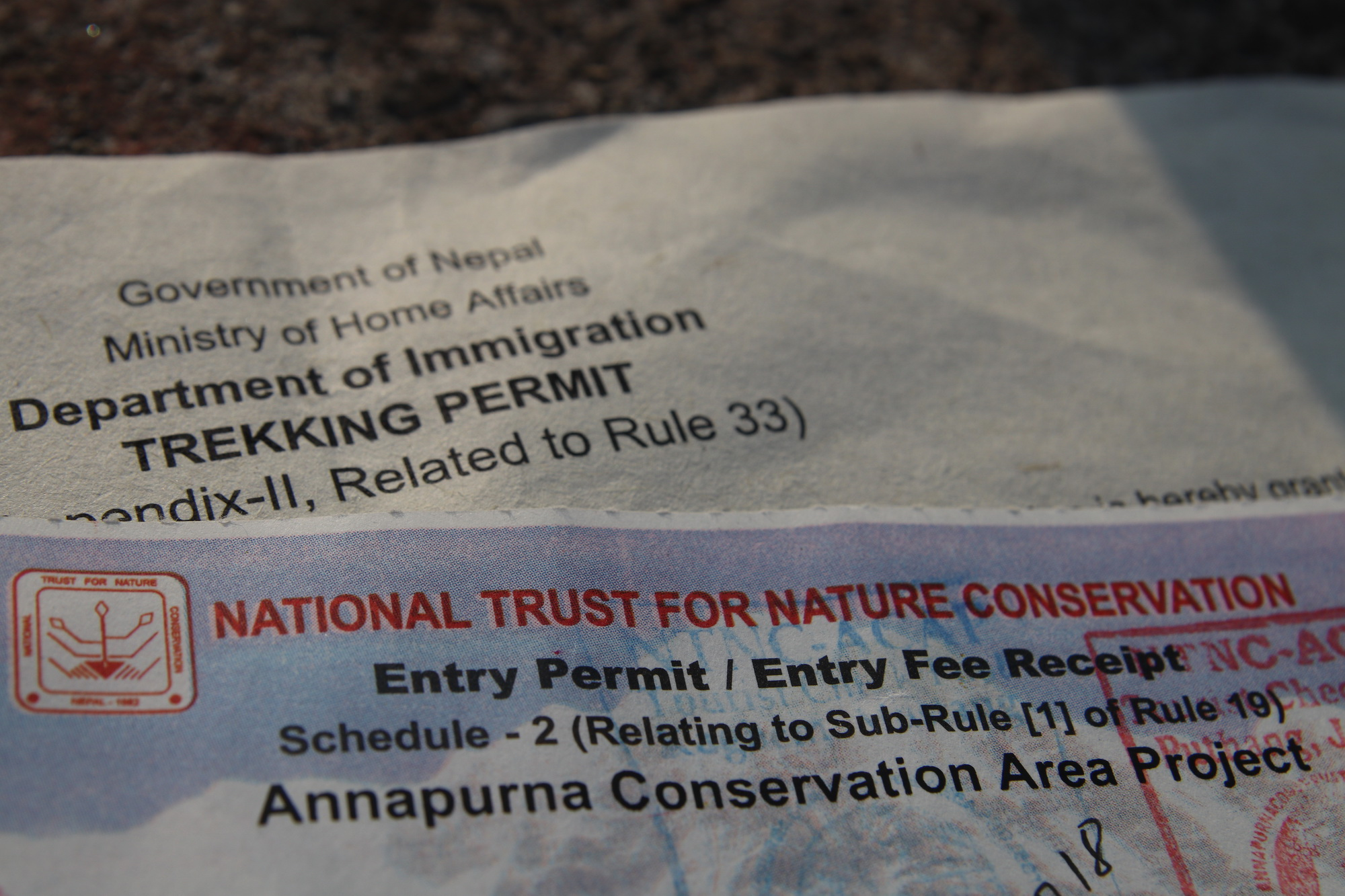Upper Mustang and Annapurna Conservation Area Project Permit (ACAP)