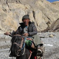 Upper Mustang horseman on the way to Yara