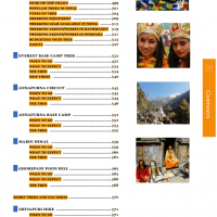Table of Contents from Nepal Guidebook page 8